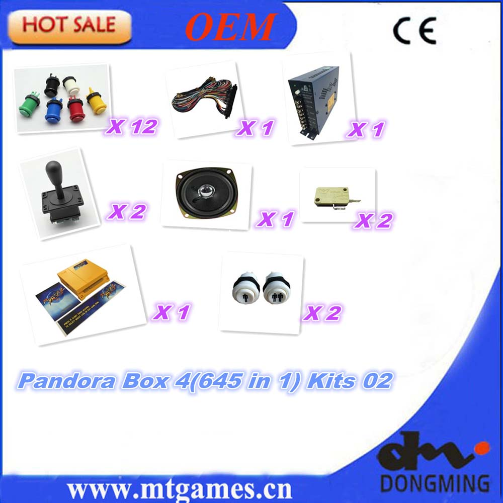 купить Jamma Arcade game kits with pandora box 4/645in1 game ,Arcade joystick ,Arcade Buttons to DIY arcade game machine or Controller дешево