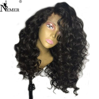 Nemer Brazilian 360 Lace Frontal Human Hair Wigs with Baby Hair 180% Density 360 Lace Front Wigs Natural Hairline Remy Hair