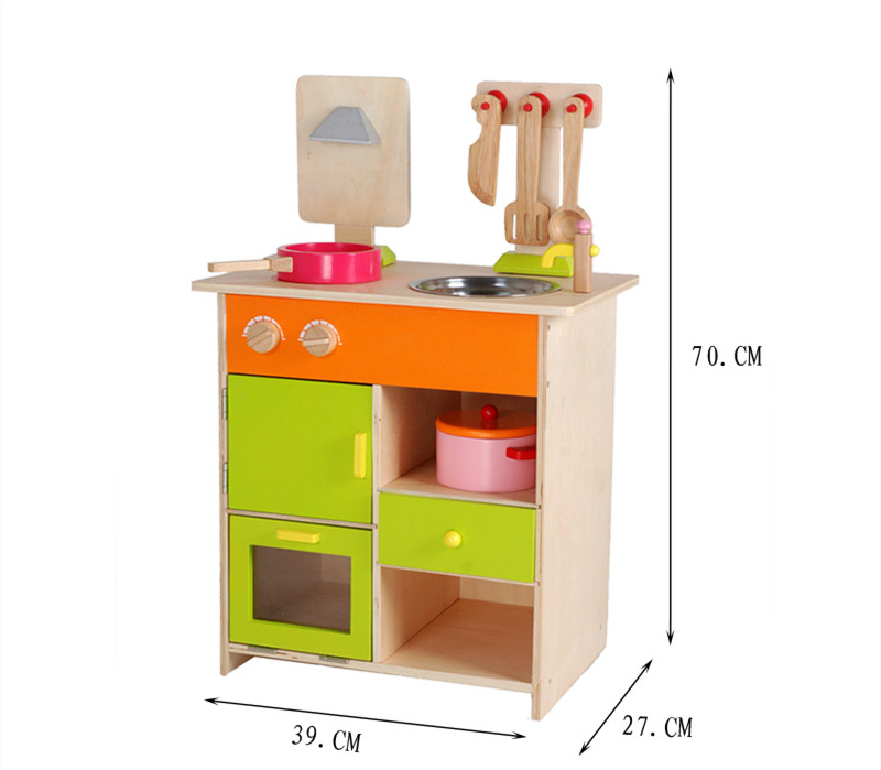 baby educational toys furniture set simulation kitchen wooden toy food set assemble play house baby birthday giftin kitchen toys from toys u0026 hobbies on