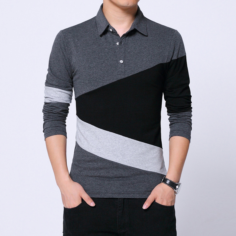 Design New 2019 Men s Brand   Polo   Shirt Long Sleeves Fashion Spring Autumn Clothes Plus Asian Size M-3XL 4XL 5XL