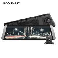 JADO D800 Steam Video Rearview Mirror Dvr GPS ADAS 10 IPS Touch Screen Full HD 1296P