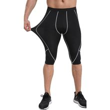 New Gym-Clothing Male Compression Tights Shorts Basketball B