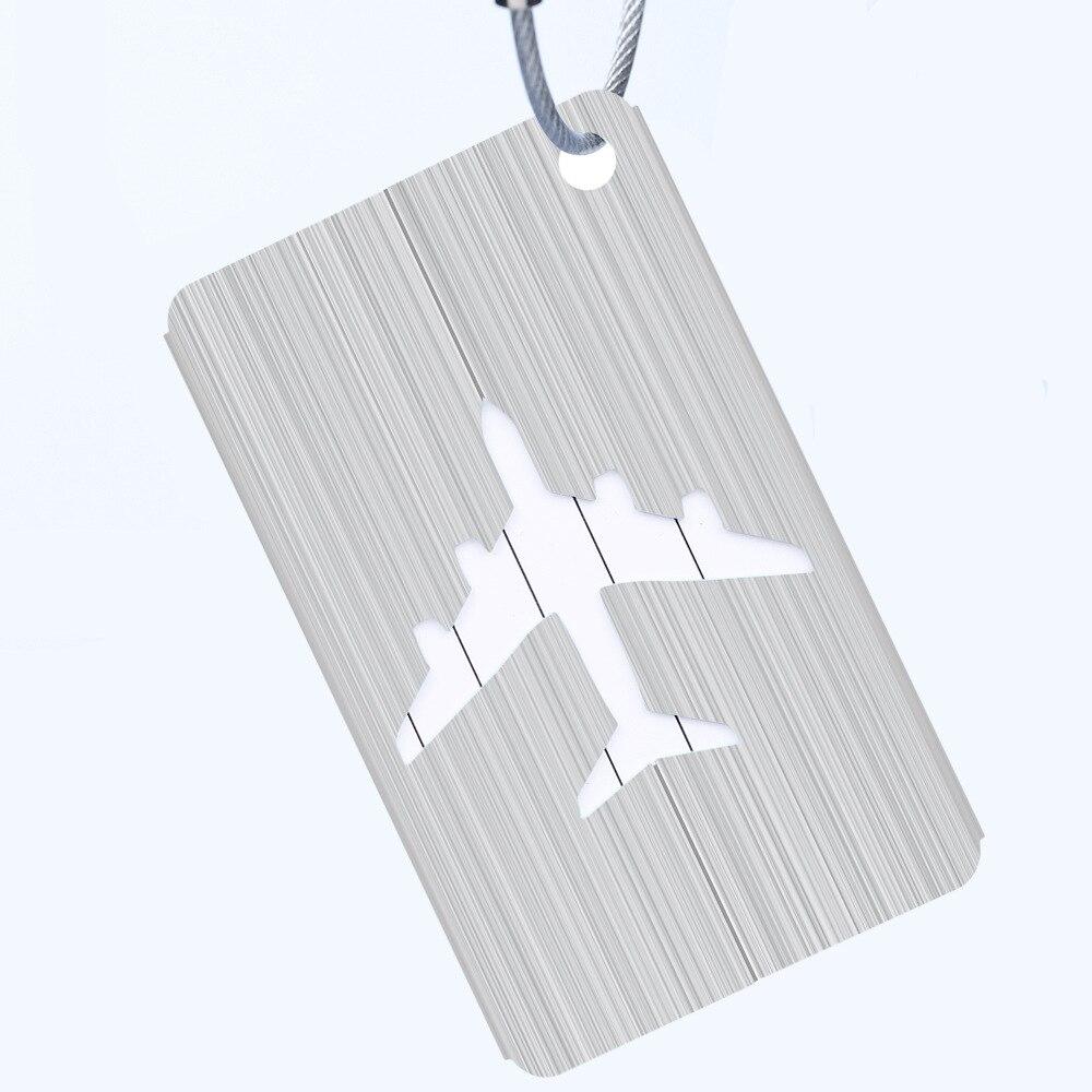 OKOKC багажные бирки из алюминиевого сплава, багажные бирки, ярлыки для багажа, аксессуары для путешествий - Цвет: Silver