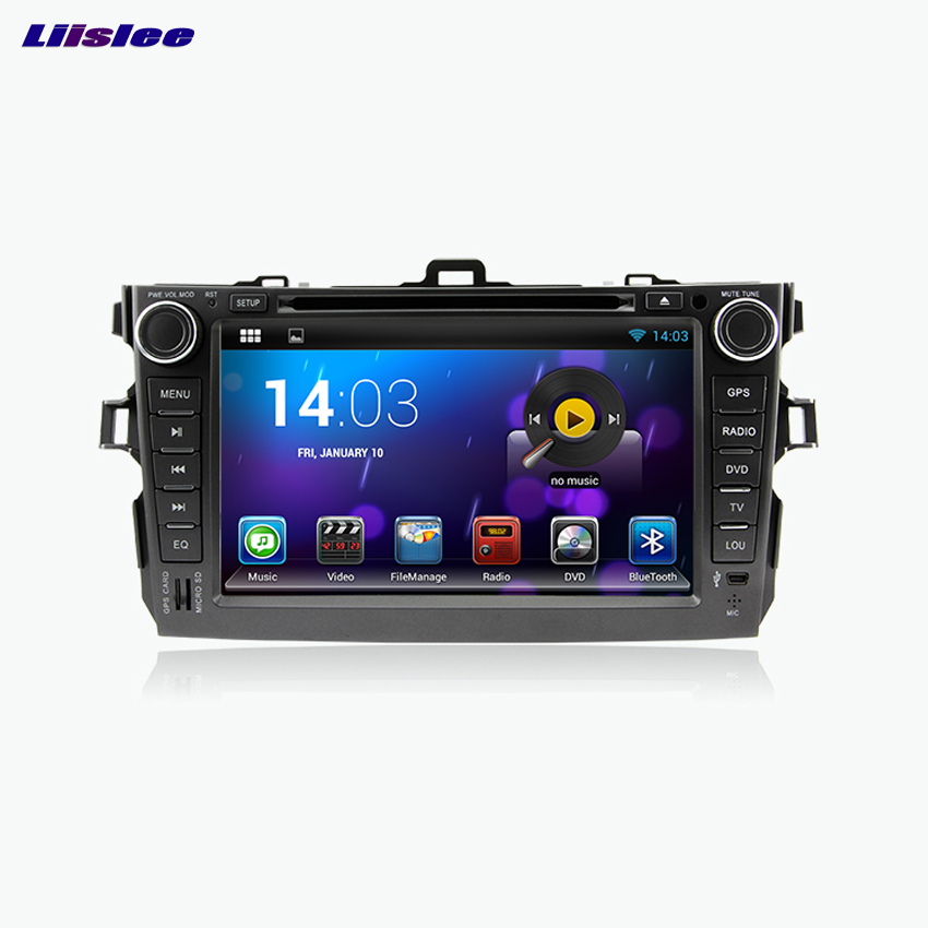 Liislee For Toyota Corolla Car DVD player Multimedia Audio Video Radio GPS Navigation Multi-Touch Screen Bluetooth Stereo