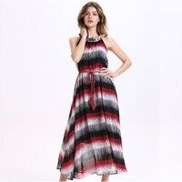 2017 Hot Sale Summer Women S Beach Dress Wide Loose Dress Chiffon Print Maxi Dress A