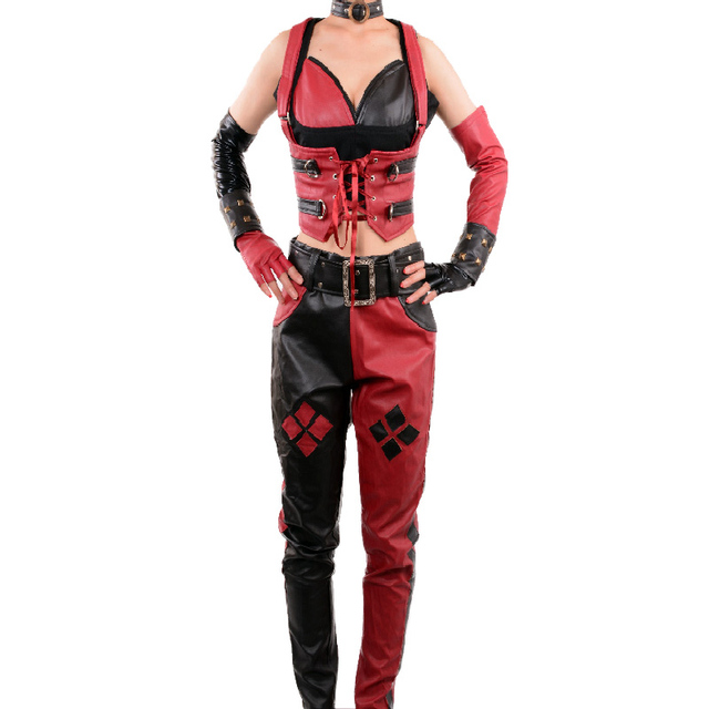 Batman Arkham City Secret Wishes adult Sexy Harley Quinn Costume party cosplay halloween costumes for women  sc 1 st  AliExpress.com & Batman Arkham City Secret Wishes adult Sexy Harley Quinn Costume ...