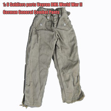 "1:6 Soldiers Parts Veyron DML World War II German General Combat Pants Trousers Fit 12"" Phicen HT Toys Dolls Action Figure(China)"