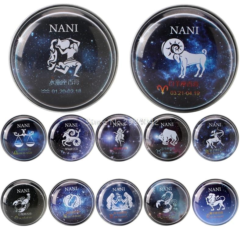 1 Unid 12 Constelación Signos Perfumes Sólidos Mágicos Perfume Desodorante Fraga