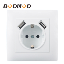 USB Wall Socket Double USB Port 5V 2A Free shipping Usb enchufes para pared  prise electrique prise usb murale steckdose LC–19