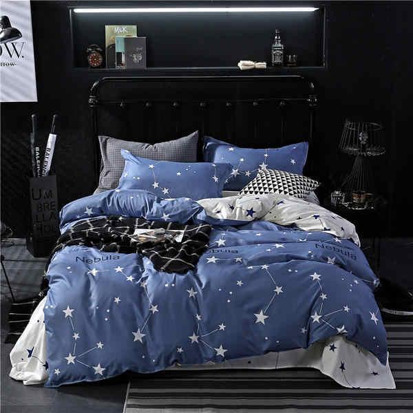 Полиэстер/хлопок королева король Полный Твин постельных принадлежностей пододеяльник/одеяло покрывало + 1 шт наволочка