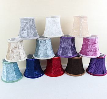 Clip On Chandelier Shades: flannel purple, red,blue,white trendy lamp shades styles, candle bulb wall,Lighting