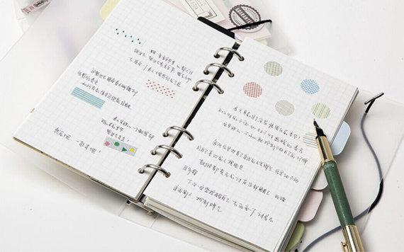 plastic binder refill notebook a5 ring binder refillable journal