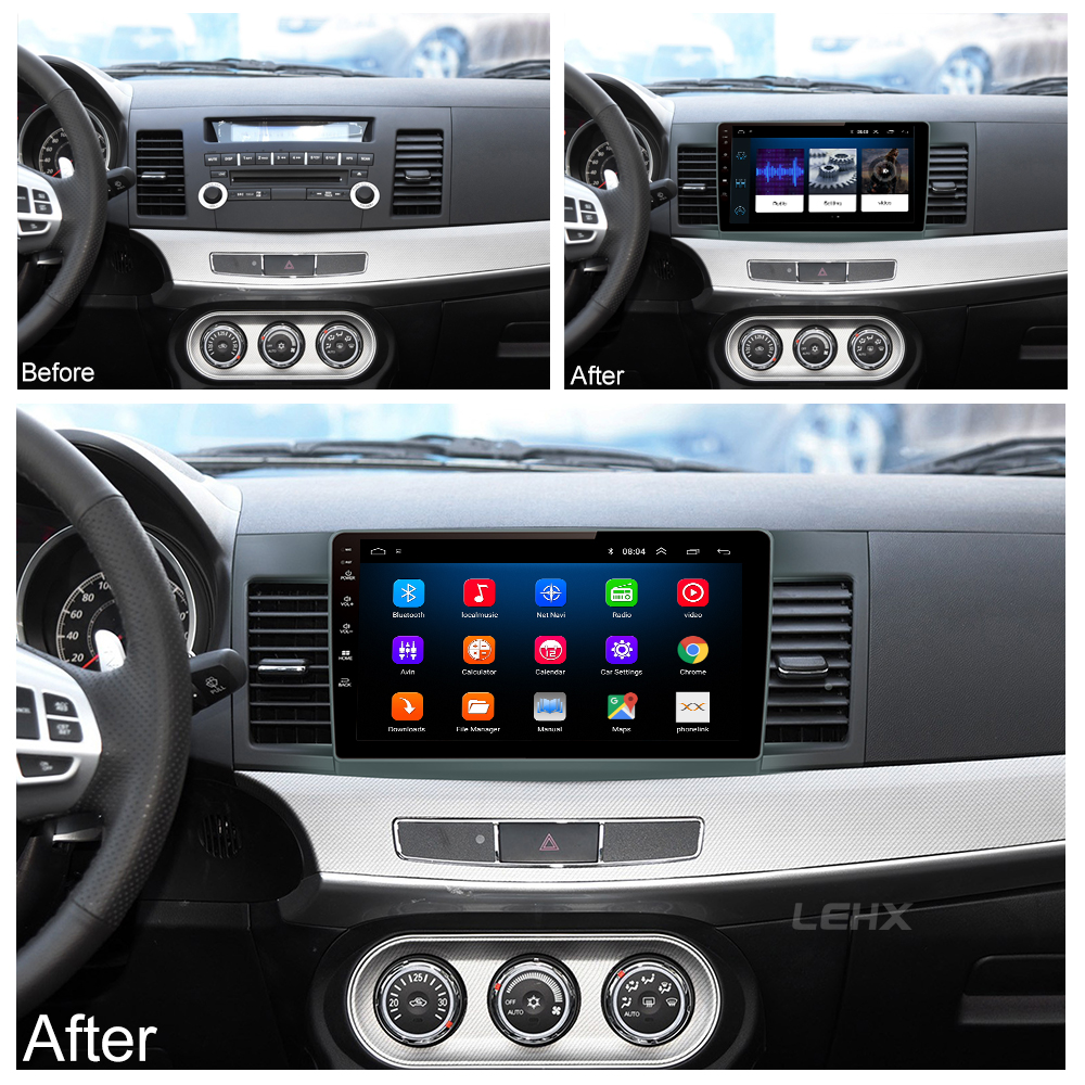 Car Android 8.1 Car dvd Multimedia for MITSUBISHI LANCER 10.1 inch 2 DIN  Gps navigation radio video audio player