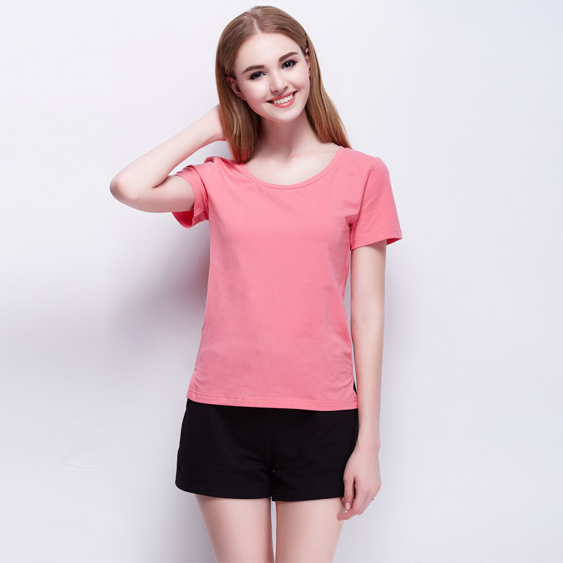 SoftFox women sleepwear summer woman s pajams 100% cotton with pant woman  sleepwear and T-shirt nightgown woman nightwear ae111d8f22