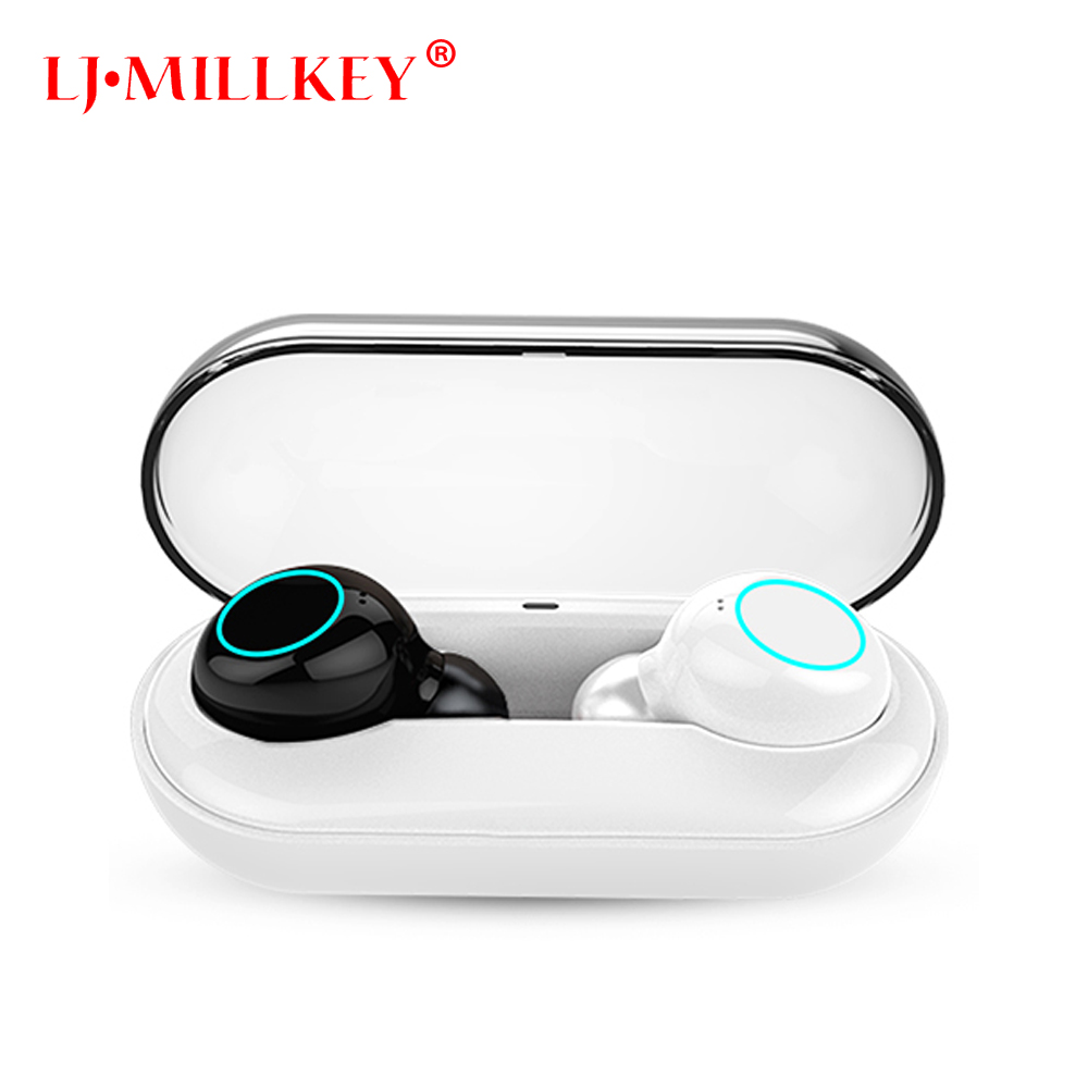 V5.0 IPX8 Waterproof Bluetooth Touch Control Hifi Earphone with Mic TWS Wireless Earbuds Stereo for Phone With Charger Box YZ205 mini wireless earphone 9100 tws waterproof bluetooth earphones with mic touch control hifi wireless earbuds for phone xiaomi