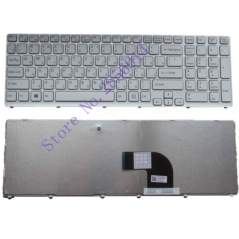 Russian RU Keyboard FOR Sony Vaio SVE171 SVE17129CCW SVE171A11M SVE17A1M6E/W Witte Laptop Keyboard for sony vpceh35yc b vpceh35yc p vpceh35yc w laptop keyboard