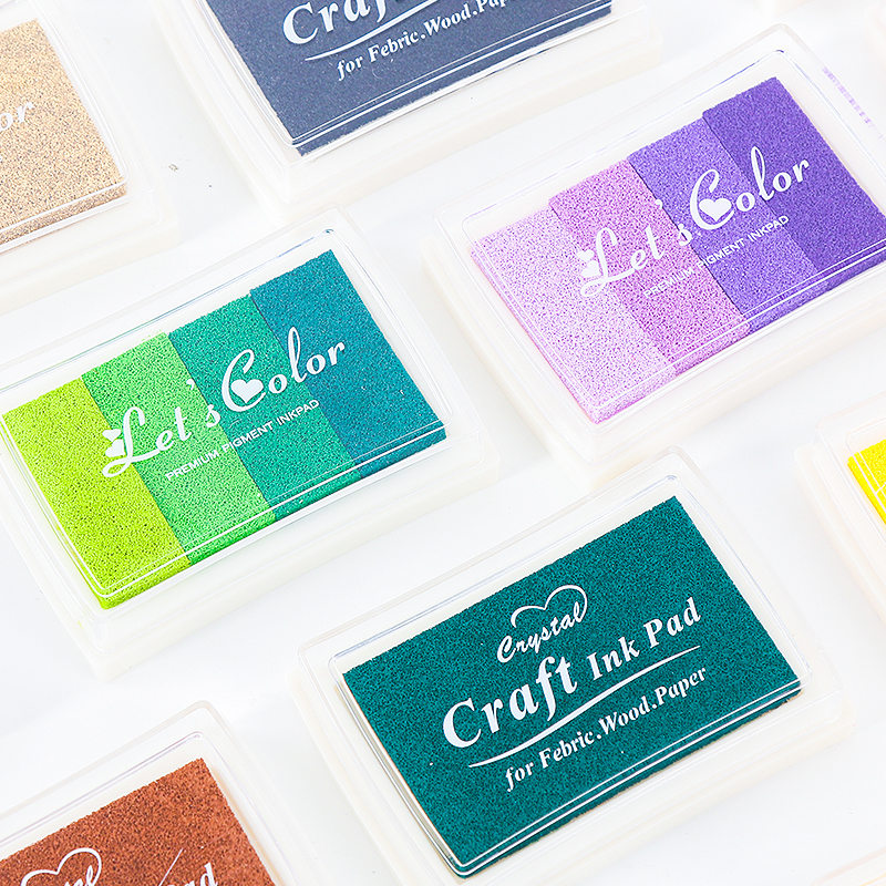 Oil Based DIY Vintage Ink Pad For Rubber Stamps Sealing Fabric Wood Paper Scrapbooking 20 Colors Fingerprint Inkpad Kids Toys