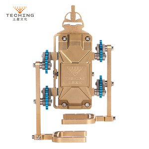 Teching All-Metal Assembly Robot Walker Mobile Phone APP Remote Control DIY RC Building Model Kits for Collection Gift Toy