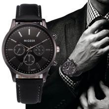 Wholesale Classic Retro Male Clock Design Leather Band Analog Alloy Quartz Wrist