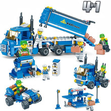 316pcs For City Blue Truck Transportation Truck Model Set Assemble Children Model Building Blocks Bricks Toys 3221(China)