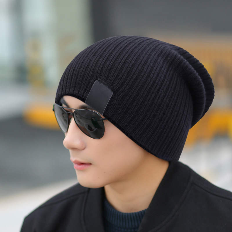 Men Women Winter Beanies Cap Outdoor Bonnet Skiing Hat Soft Knitted Hat -MX8