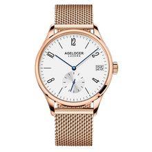 8f60d6a64a4 Swiss Homem Relógios 2018 Marca de Luxo dos homens Relógio Data de Exibição  Pulseira de Couro Assistir Reserva De Energia 42 Hor.