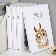 """""""Pequena coruja"""" grande capa dura diário de estudo bonito diário bonito caderno papéis em branco bloco de notas"""