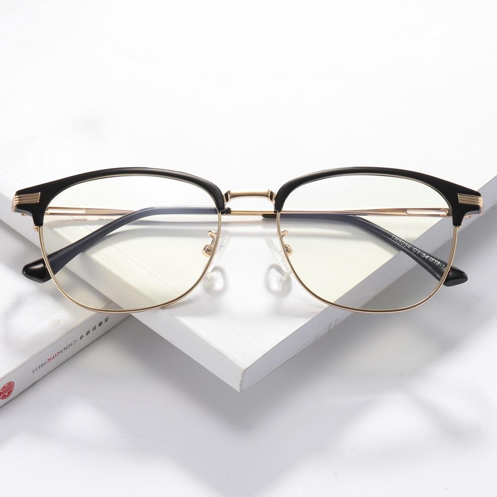 5ed7745e2a3 TR90 Anti-Blue Ray Eyeglasses Plastic Titanium Prescription Eyewear Frame  Black Lightweight Computer Glasses Frame for Women Men