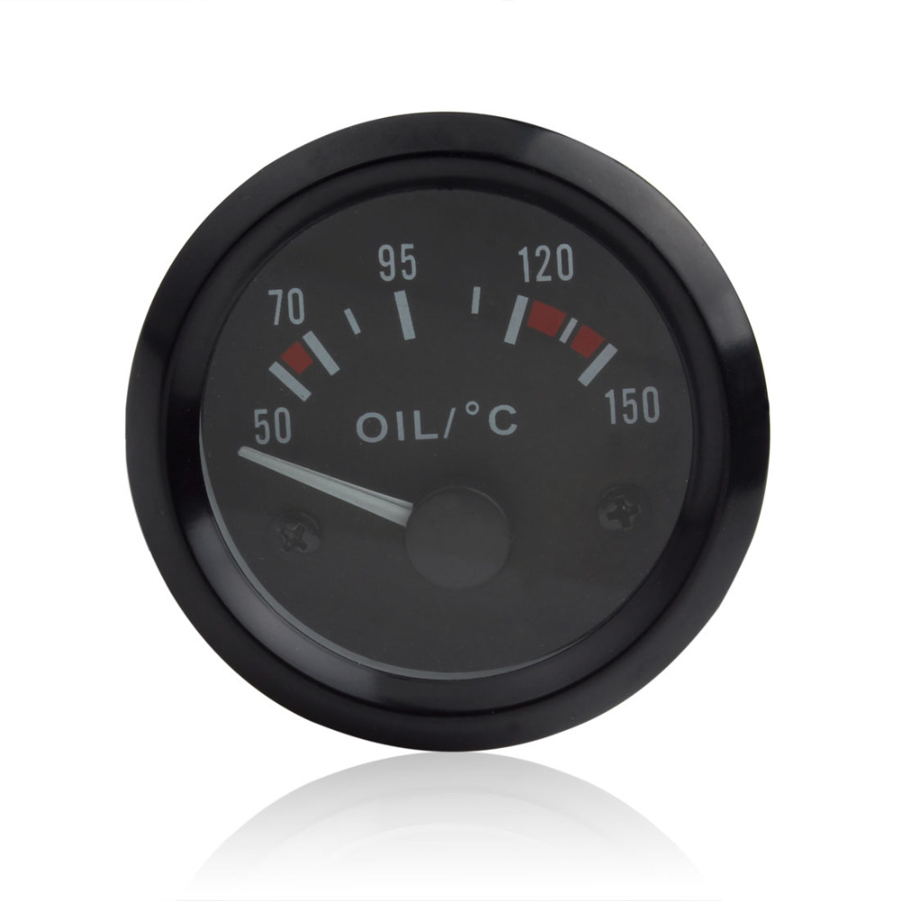 2016 New Audew 2 Inch Universal Car Oil Temperature Temp Gauge 50 150 with LED Light in Oil Pressure Gauges from Automobiles Motorcycles
