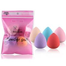 5PCS Pro Makeup Blender Foundation Puff Multi Shape Sponges Water Cosmetic Blender Blending Powder Smooth Make Up Sponge Tool