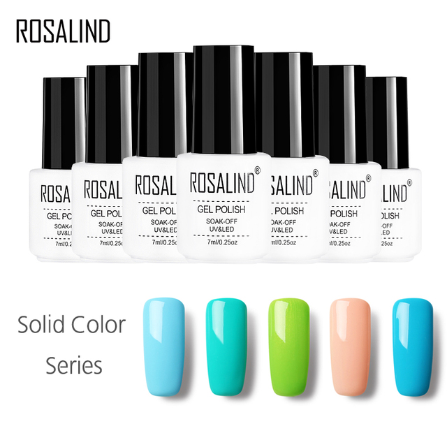 ROSALIND Gel 1 7ML 01-58 Solid Color Nail Polish Gel Top Base Coat Nails - ROSALIND Gel 1 7ML 01 58 Solid Color Nail Polish Gel Top Base Coat