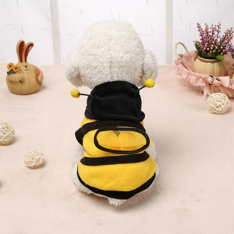 1Pcs Pet Clothes Cute Bees Dog Cat Clothes Soft Fleece Teddy Poodle Dog Clothing