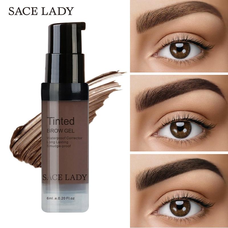 Sace Lady Henna Eyebrow Dye Gel Waterproof Makeup Shadow For Eye