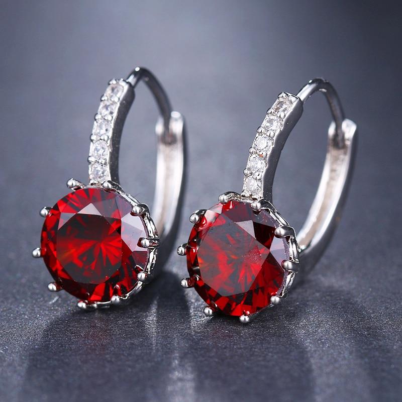 EMMAYA Fashion 10 Colors AAA CZ Element Stud Earrings For Women Wholesale Chea Factory Price 14