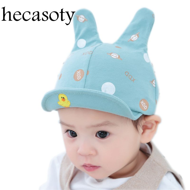 Baby Hats Cartoon Soft Baby Girl Boys Cap Spring Hats for Boy Cotton Infant Sun Hat 2018 Baby Girl Hat Summer Baby Accessories