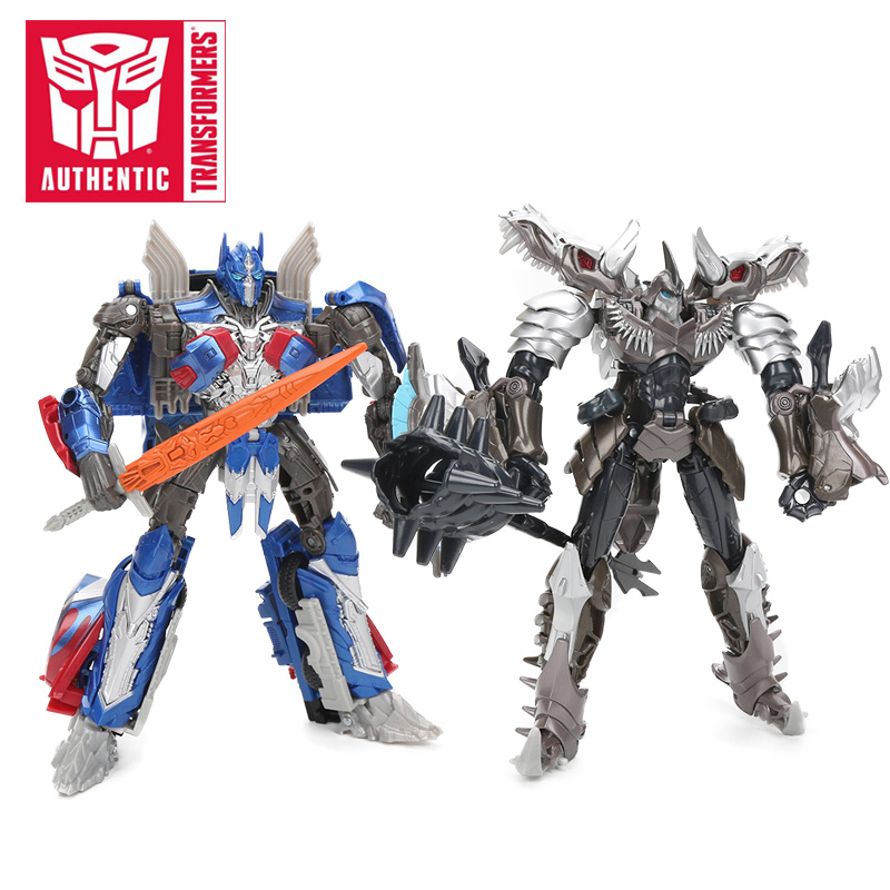 18cm Transformers Toys The Last Knight Premier Edition Grimlock Voyager Class Optimus Prime PVC Action Figures Collection Model knl hobby voyager model pe35418 m1a1 tusk1 ubilan