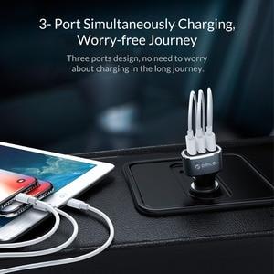 Image 3 - ORICO 33W 3 USB bağlantı noktaları hızlı şarj QC 3.0 araç şarj cihazı iPhone XR XS MAX 8 Samsung S10 şarj cihazı cep telefonu hızlı araç şarj cihazı