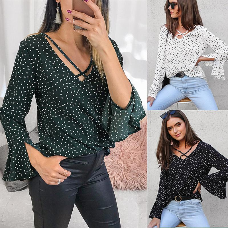 Pretty Spring Casual Long Sleeve Blouse For Women