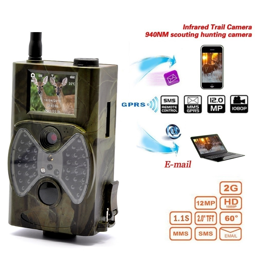 HC300M caméra de Chasse GSM 12MP 1080 P Photo pièges Vision nocturne faune infrarouge Chasse piste caméras Chasse scout