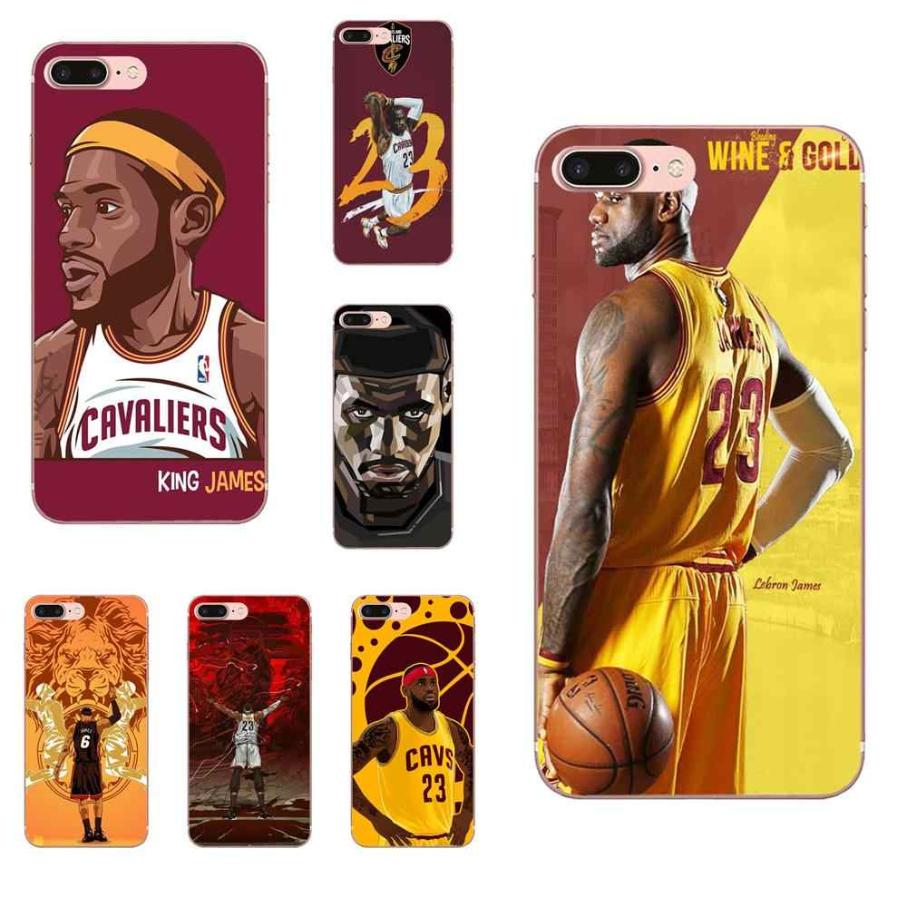 7aa4e133666 Soft TPU Phone Cases Basketball Player Lebron James 23 For Galaxy J1 J2 J3  J330 J4