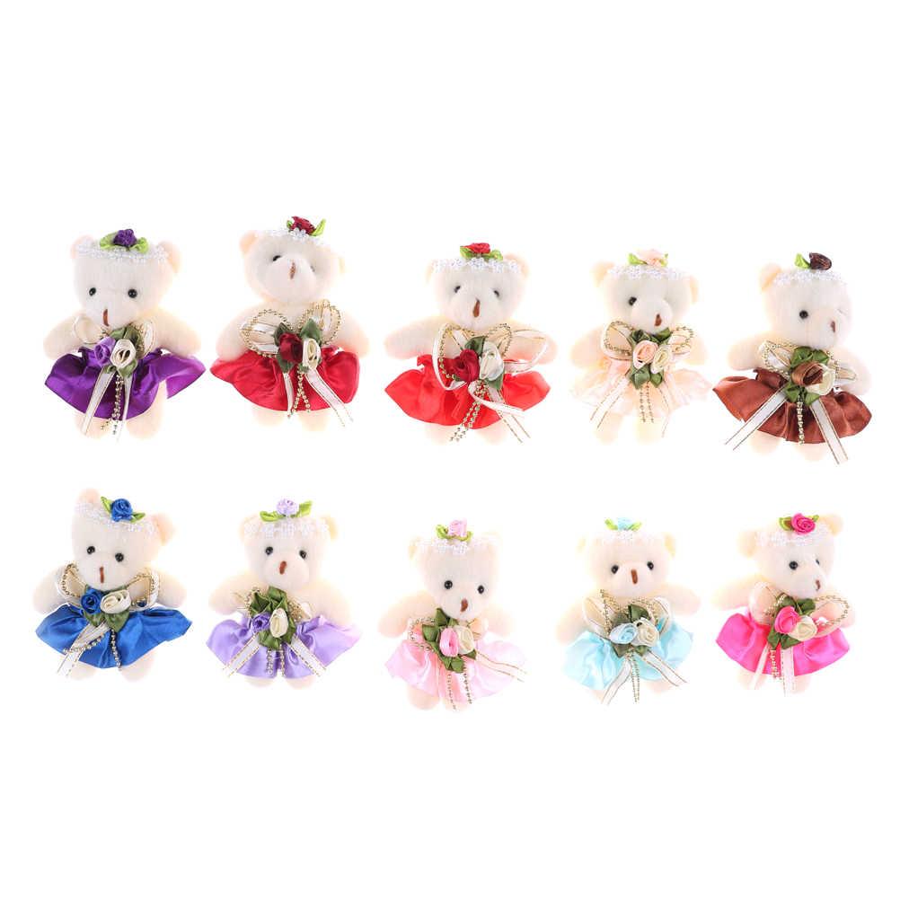 12 см Kawaii Маленькая голова плюшевый мишка плюшевая игрушка мультфильм Букет Плюшевый Медведь Мини мишки плюшевые игрушки Свадебные подарки 12 см