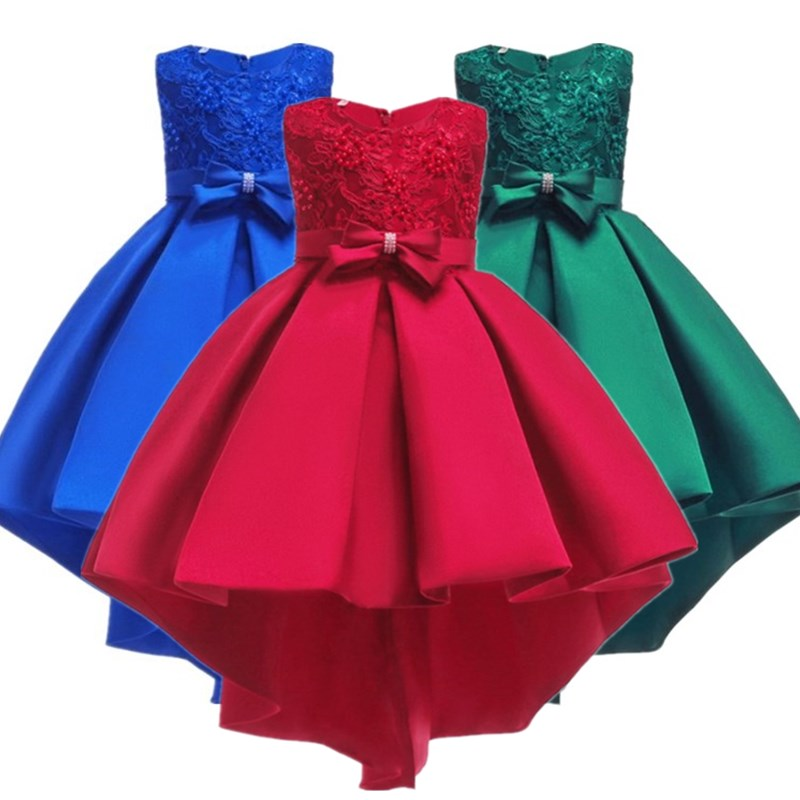 01fba48d1 Vestido de niña de 3-12 años para fiesta de boda lentejuelas flores  princesa niñas vestidos de ...