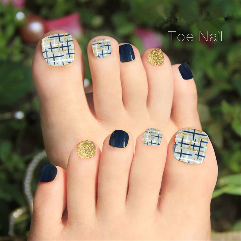 Aliexpress Buy Shining Toe Nail Design Colorful False Toe