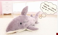 lovely new creative plush shark toy stuffed gray shark doll gift about 80cm