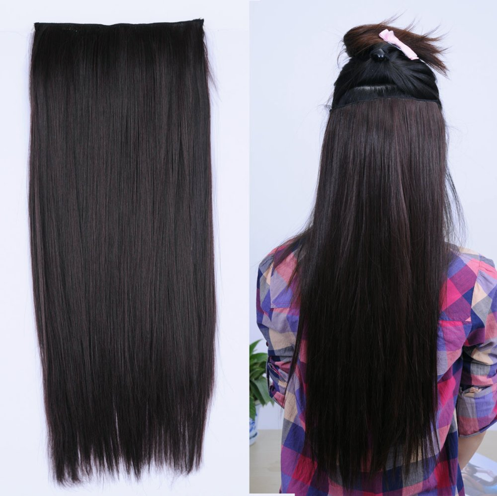 Free Shipping Super Long 30inch Synthetic 5 Clip In Hair Extension