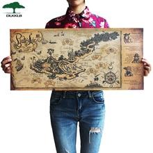 DLKKLB ретро крафт Пиратская Карта мира плавания плакат Настенная Наклейка для гостиной Бар Кафе Декор Древний мир винтажные карты 72,5x33 см