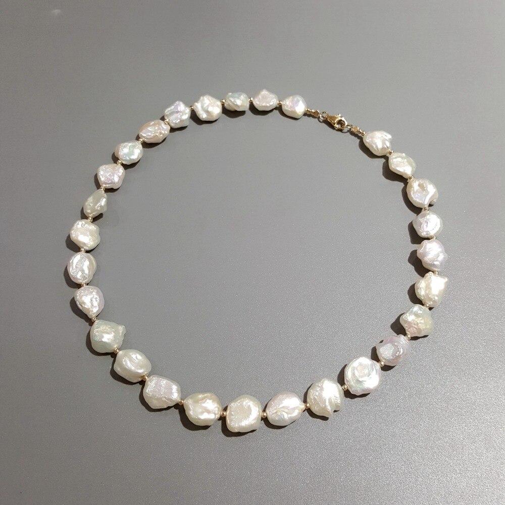 4ad930322914 Cheap Lii Ji Perla Barroca 925 Plata de Ley 18 K chapado en oro collar  joyería