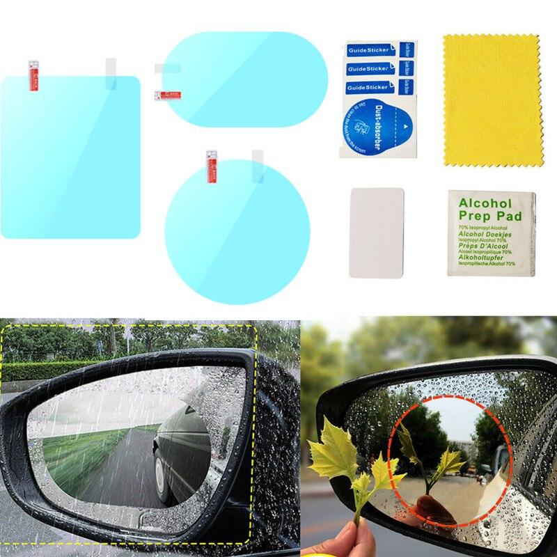 2PCS/Set Anti Fog Mirror Rainproof Film Waterproof Car Mirror Window Film Tools Anti Fog Film Anti Rain Smart Film For Cars