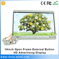 14 in HD metal button control flexible very small lcd led screen price
