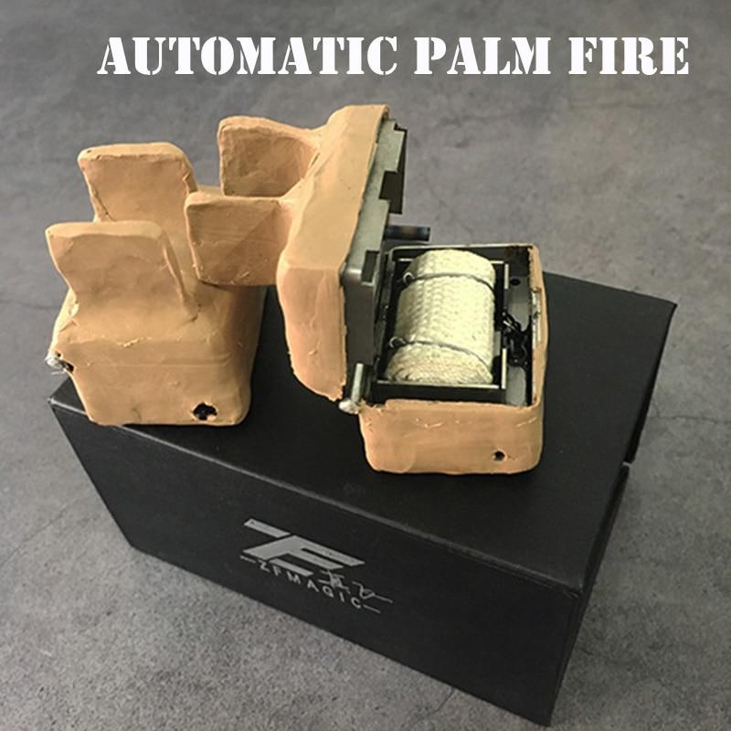 Les tours de magie automatiques de feu de palme produisent des tours de magie Magia Gimmick de flamme pour les adultes, des illusions de magie de scène, des accessoires de magicien - 2